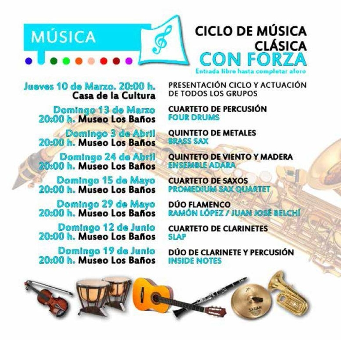 15th May free sax concert in the Alhama de Murcia archaeological Museum