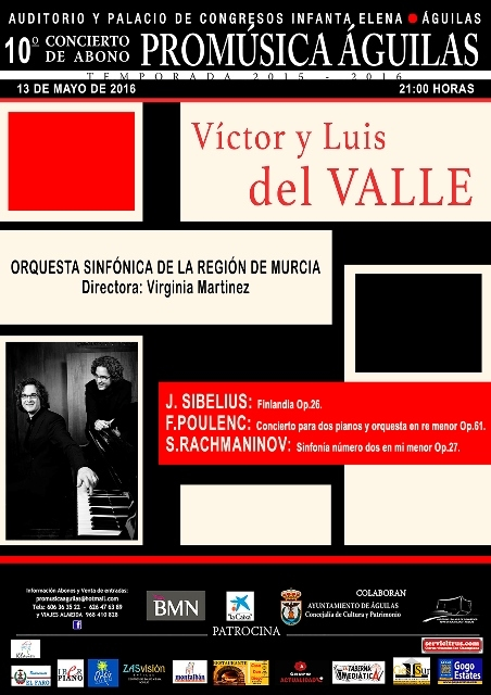 13th May Sibelius, Poulenc and Rachmaninov in ��guilas with the OSRM
