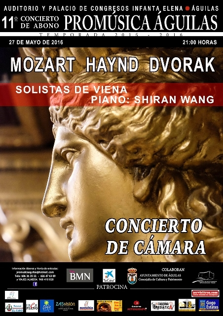 27th May Haydn, Dvorak and Mozart at the Auditorio in ��guilas