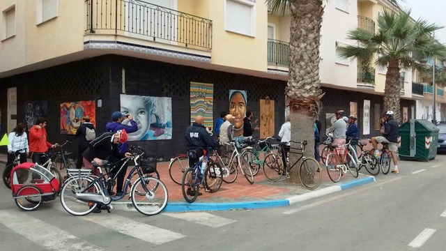 11th June free guided cycling tour of Los Alc�zares urban art