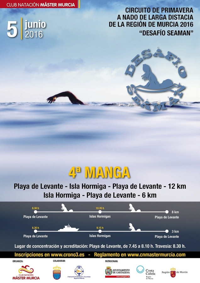 5th June long distance swimming competition Cabo de Palos to Isla Grosa