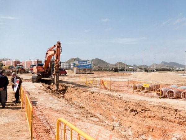 <span style='color:#780948'>ARCHIVED</span> - Work begins on new Cabo de Palos roundabout