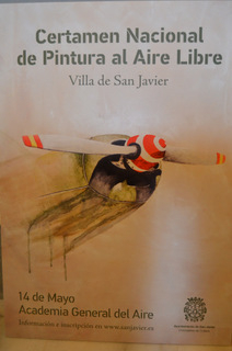 14th May San Javier open-air painting competition in the grounds of the air academy