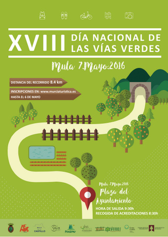 7th May, Mula: 8.4km walk to celebrate the national day of the V�as Verdes