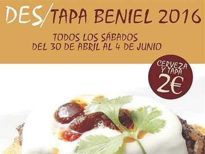 Every Saturday until the end of June: Beniel tapas route