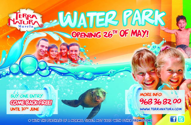 Terra Natura Murcia Waterpark open: go back free until the end of June