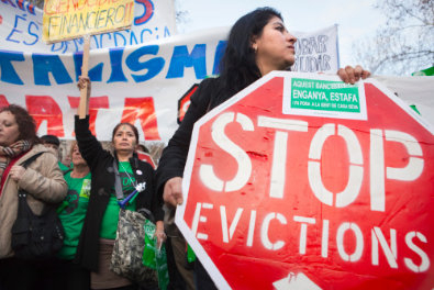 Evictions still not falling in the Region of Murcia