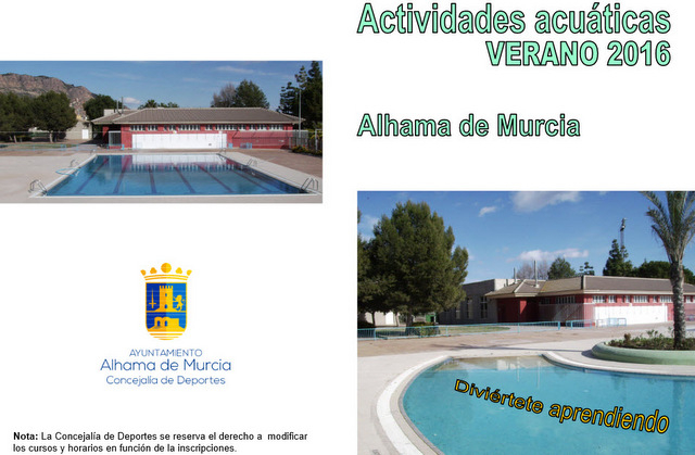 Murcia Today Alhama De Murcia Summer Open Air Swimming Pool And Courses