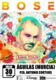 30th July Miguel Bosé live in Águilas