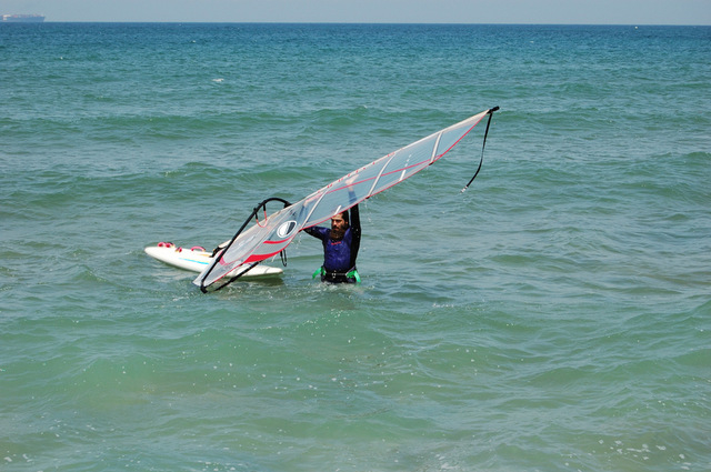 Sporting beaches: Jet-ski hire, beach fishing and windsurfing, Playa Alamillo Mazarrón