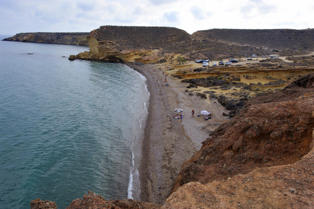 Mazarrón beaches: Playa Cueva de Lobos, nudist beach