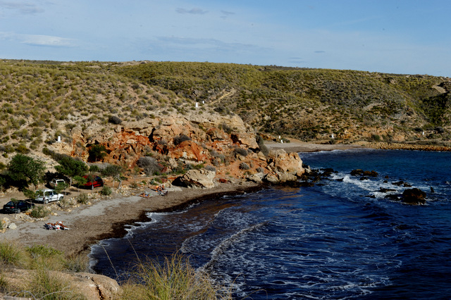 Mazarrón beaches: Cala de Leño, nudist beach