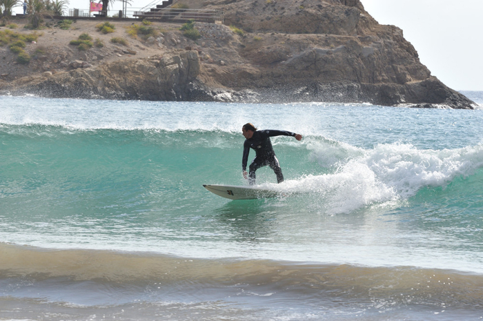 Sporting beaches: Surfing at the Playa de la Reya Mazarrón