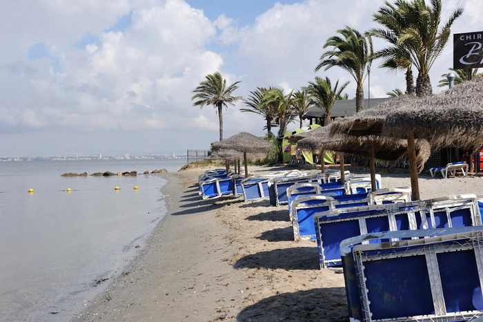 Playa Chica, one of the Mar Menor beaches in the San Javier end of La Manga del Mar Menor