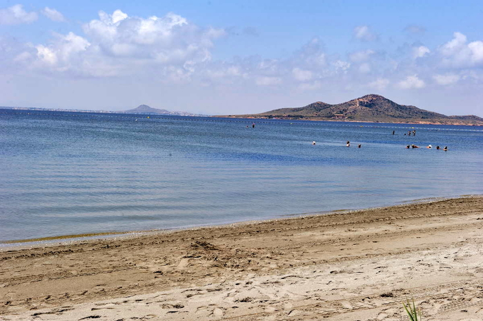 Mar Menor beaches in the San Javier section of La Manga: Playa Lebeche