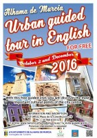 4th December free ENGLISH language guided tour of Alhama de Murcia