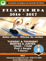 Tuesdays and Thursday, Pilates on Hacienda del Alamo