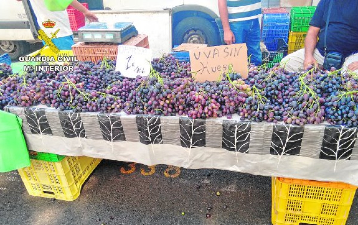 Bargain grapes in Murcia markets stolen from Cieza