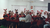 The ADAPT Christmas choir sing their hearts out