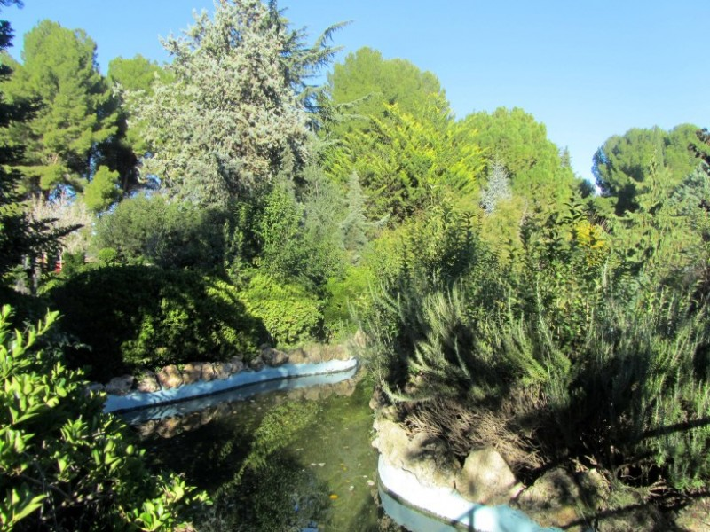 The La Estacada botanical garden in Jumilla