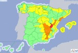 Murcia remains on yellow and orange alert for bad weather during Friday