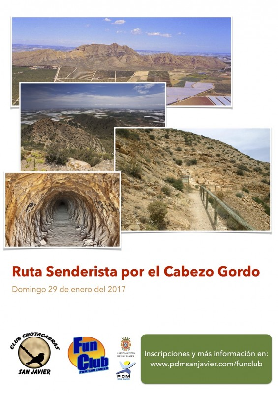 29th January Cabezo Gordo Hiking Route leaving from San Javier