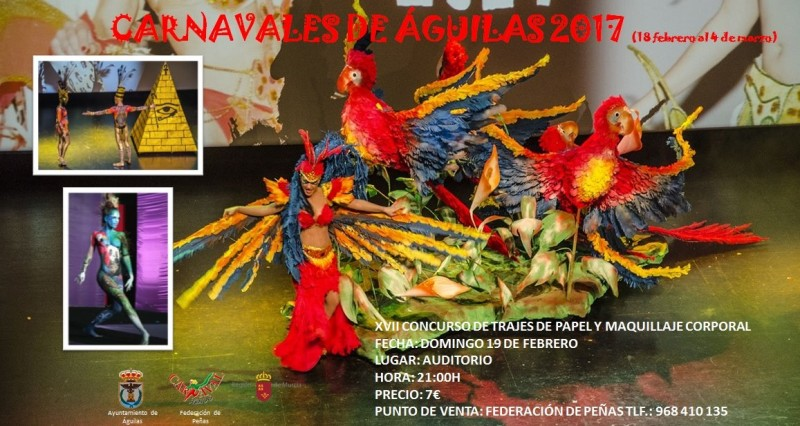 19th February paper costumes competition Águilas Carnival