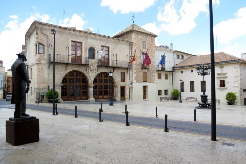The Palacio de los Alarcos in the Plaza Mayor of Yecla