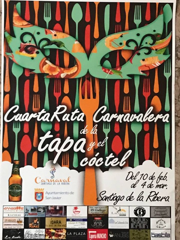 10th February to 4th March Santiago de la Ribera Carnival Tapas Route