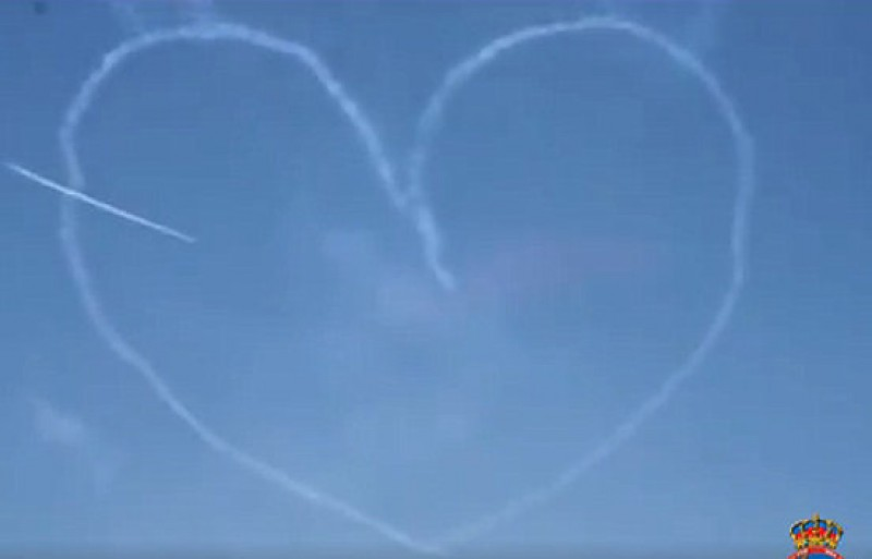 Happy Valentines from the San Javier-based Patrulla Aguila