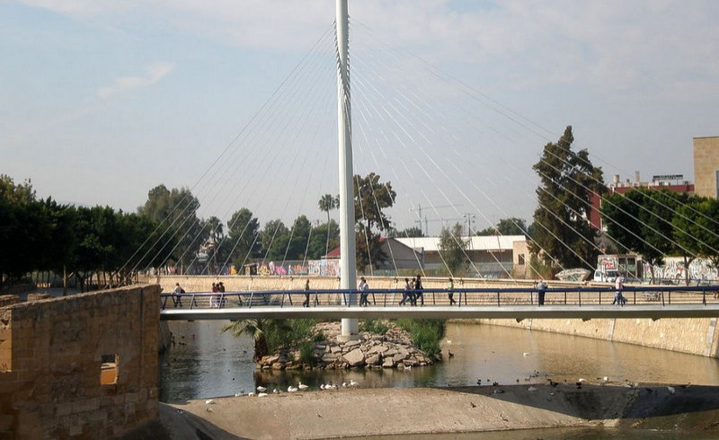 Eel ladder installed under Murcia bridge