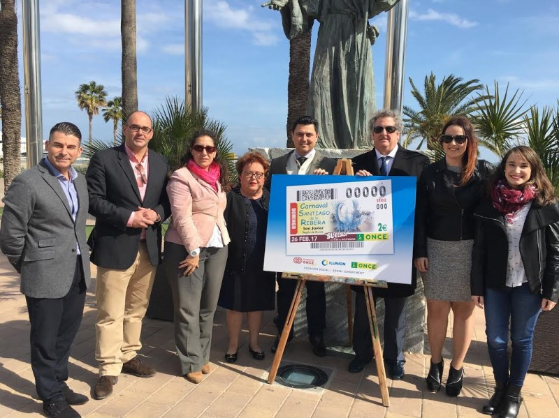 Santiago de la Ribera Carnival promoted nationally via the ONCE lottery draw