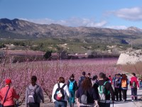 February and March: Guided routes, river descents and guided visits to La Floración