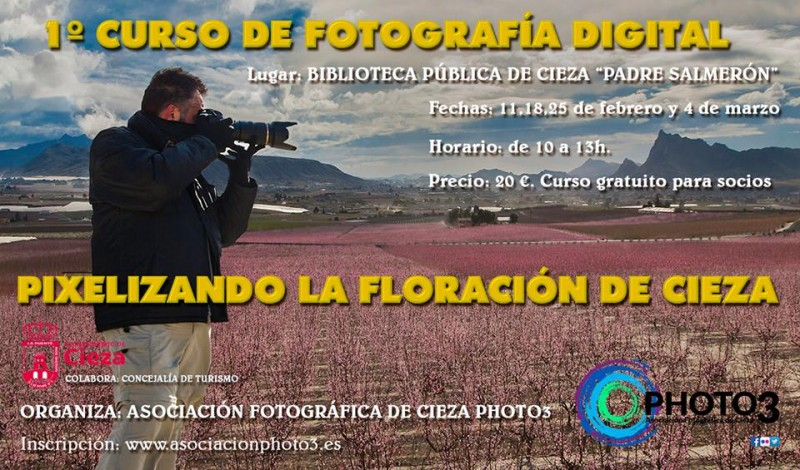 Photographic competition, photographic workshops for La Floración Cieza