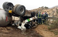 Lorca motorway accident claims life of lorry driver
