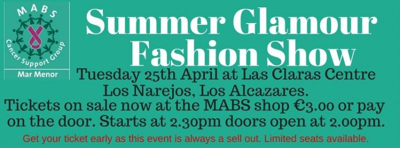 25th April MABS Summer glamour fashion show in Los Alcázares
