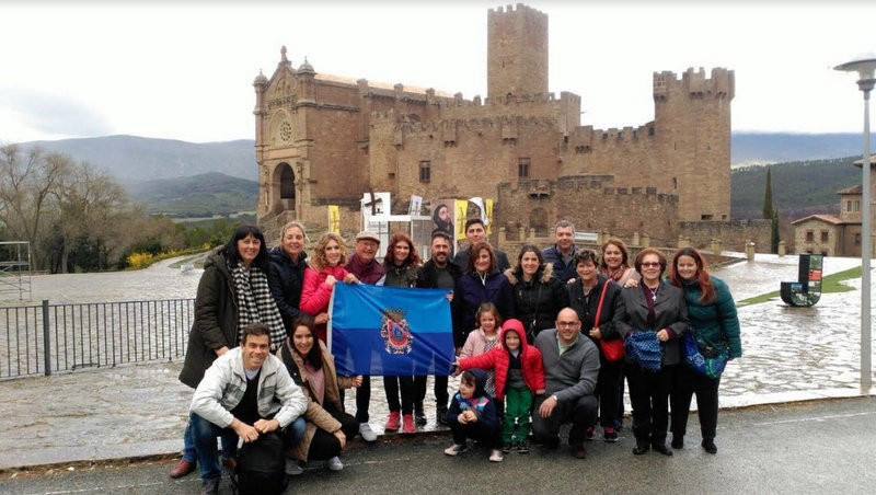 San Javier pilgrims reach the castle of Javier in Navarra