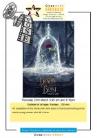 23rd March ENGLISH language cinema at the Parque Almenara in Lorca: Beauty and the Beast