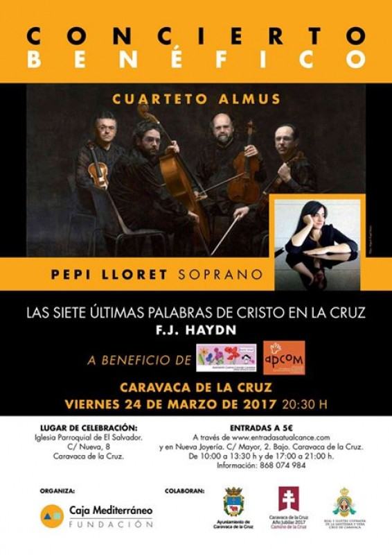 24th March the Seven words of Christ by Haydn in Caravaca de la Cruz