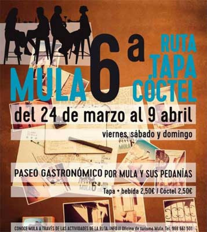 24th March to 9th April Mula tapas route 2017