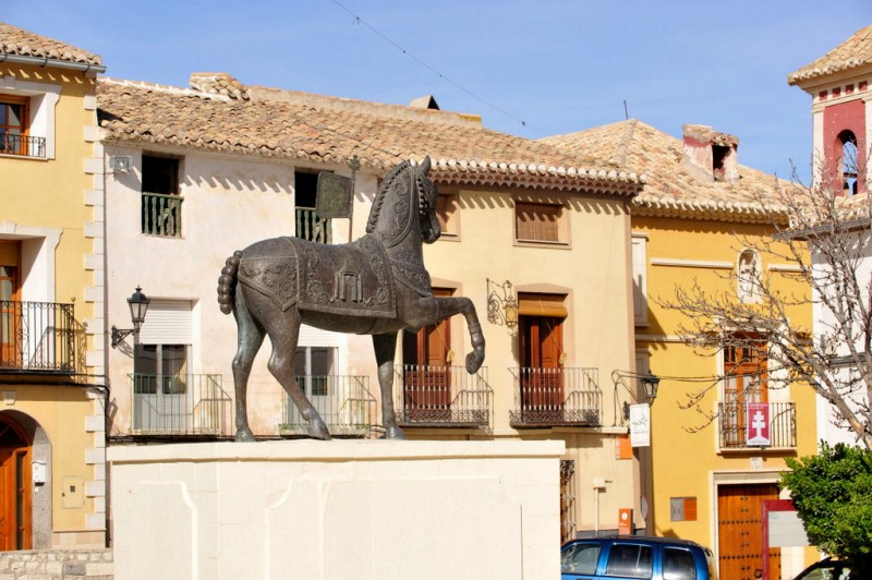 The Plaza de los Caballos del Vino in Caravaca de la Cruz