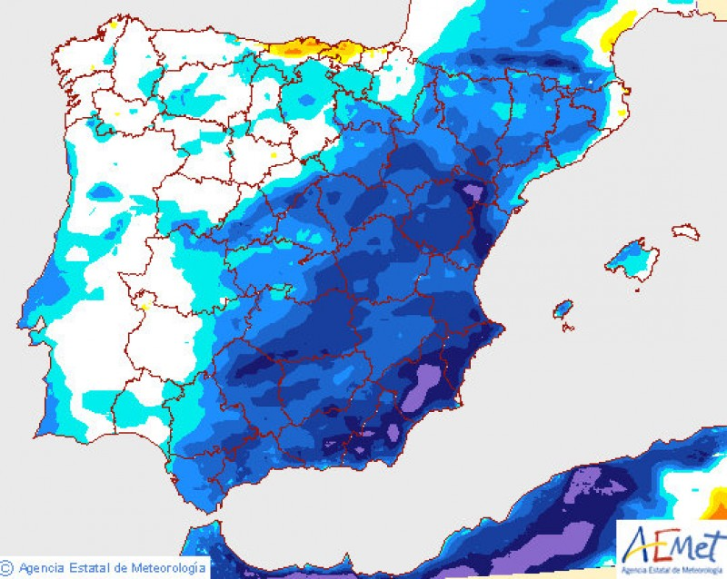 <span style='color:#780948'>ARCHIVED</span> - Cold weather and rain to return to Murcia at the end of this week