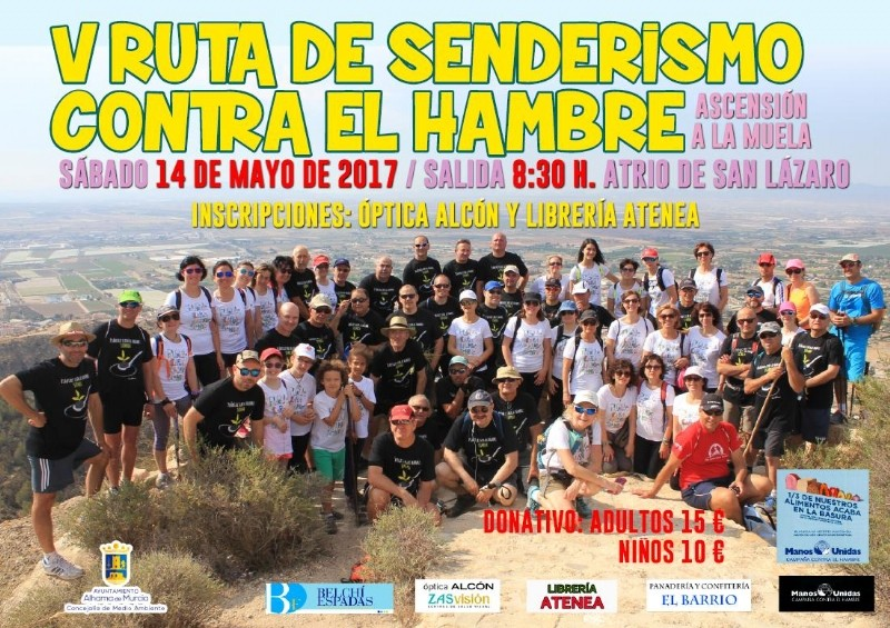 14th May Alhama de Murcia Walking route against hunger