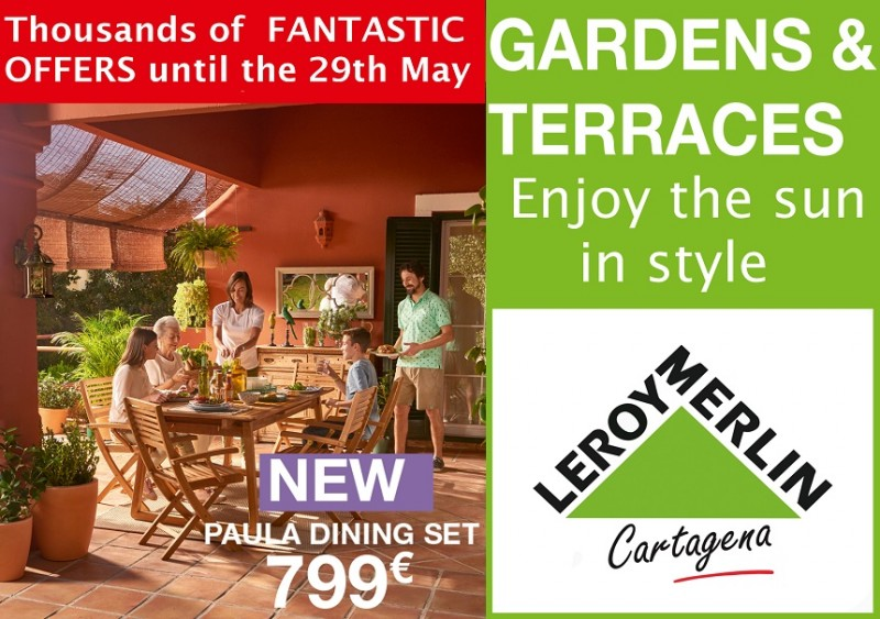 Get your garden and pool ready for summer with Leroy Merlin Cartagena