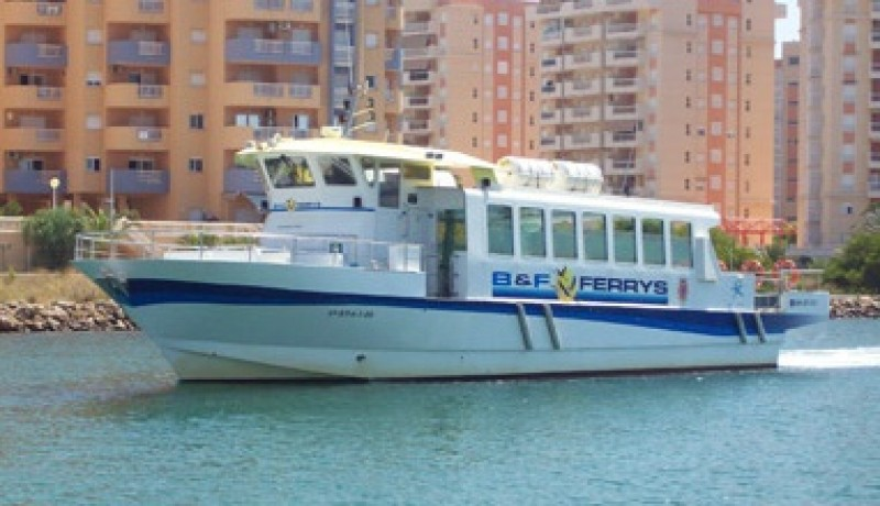 Regular ferry service from Santiago de la Ribera to La Manga del Mar Menor