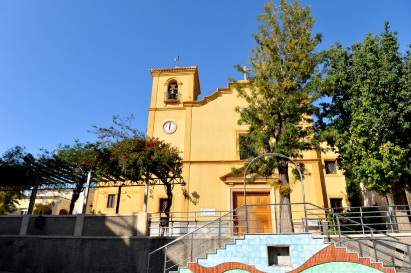 The Iglesia de las Tres Avemarías in Totana