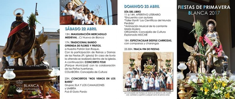 20th to 23rd April Fiestas de Primavera Blanca in the Ricote Valley
