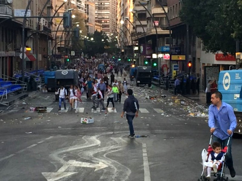 Mammoth Murcia street cleaning operation completed after Bando de la Huerta
