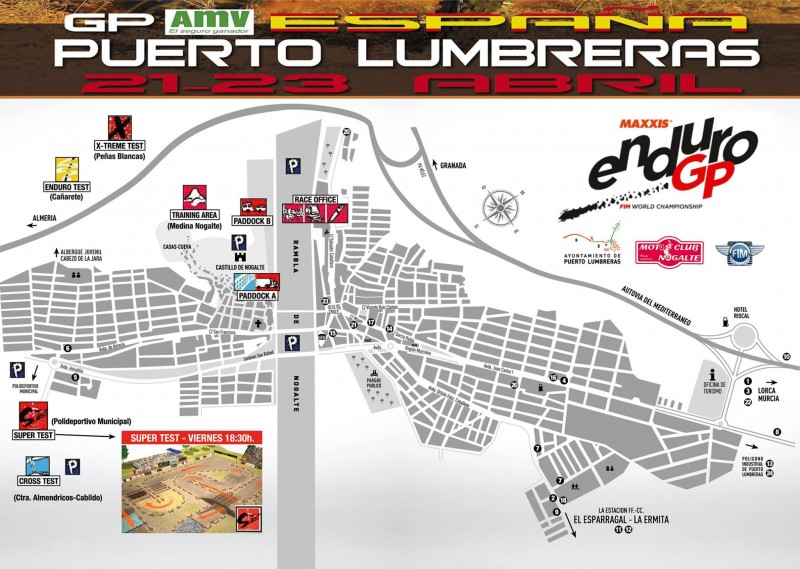 21st to 23rd April World Enduro motorcycle racing in Puerto Lumbreras