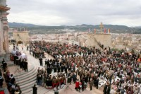 Caravaca security staff overwhelmed by weekend Jubilee Year visitors